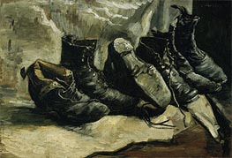 Three Pair of Shoes, c.1886/87 by Vincent van Gogh | Painting Reproduction