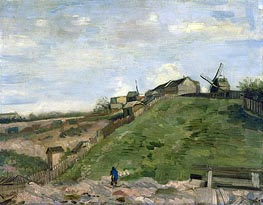 The Hill of Montmartre with Stone Quarry, 1886 by Vincent van Gogh | Painting Reproduction