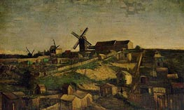 View of Montmartre with Windmills, Autumn 188 by Vincent van Gogh | Painting Reproduction