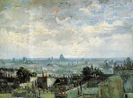View of the Roofs of Paris, Late Summe von Vincent van Gogh | Gemälde-Reproduktion