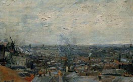 View of Paris from Montmartre, Late Summe by Vincent van Gogh | Painting Reproduction
