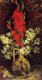 Vase with Gladioli and Carnations, Summer 188 by Vincent van Gogh | Painting Reproduction