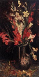 Vase with Red Gladioli, Summer 188 by Vincent van Gogh | Painting Reproduction