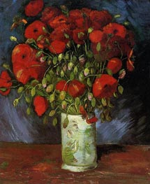 Vase with Red Poppies, Summer 188 von Vincent van Gogh | Gemälde-Reproduktion