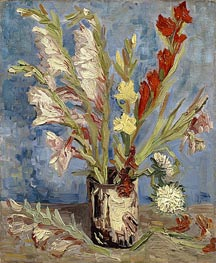 Vase with Gladioli, 1886 by Vincent van Gogh | Painting Reproduction
