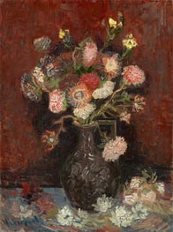 Vase with Asters and Phlox, 1886 by Vincent van Gogh | Painting Reproduction