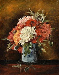Vase with Carnations, Summer 188 von Vincent van Gogh | Gemälde-Reproduktion
