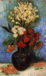 Vase with Carnations and Other Flowers, Summer 188 von Vincent van Gogh | Gemälde-Reproduktion