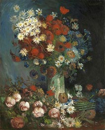 Poppies, Cornflowers, Peonies and Chrysanthemums, 1886 by Vincent van Gogh | Painting Reproduction