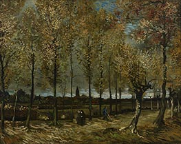 Lane with Poplars, November 1 von Vincent van Gogh | Gemälde-Reproduktion