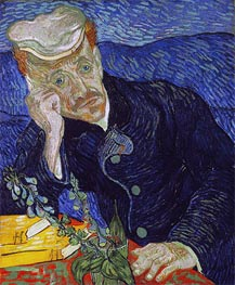 Portrait of Doctor Paul Gachet, 1890 von Vincent van Gogh | Gemälde-Reproduktion