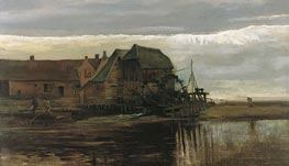 Watermill at Gennep, 1884 von Vincent van Gogh | Gemälde-Reproduktion
