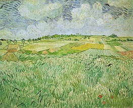 The Plain at Auvers, 1890 von Vincent van Gogh | Gemälde-Reproduktion