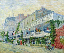 Restaurant de la Sirene at Asnieres, 1887 by Vincent van Gogh | Painting Reproduction