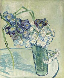 Carnations in a Vase. Auvers, 1890 by Vincent van Gogh | Painting Reproduction