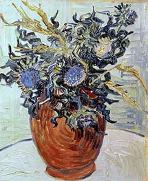 Still Life with Thistles, 1890 by Vincent van Gogh | Painting Reproduction