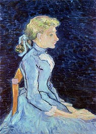 Portrait of Adeline Ravoux, 1890 by Vincent van Gogh | Painting Reproduction