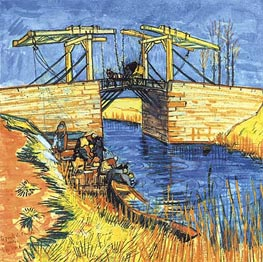The Langlois Bride at Arles, 1888  by Vincent van Gogh | Painting Reproduction