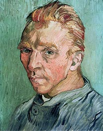 Self Portrait, 1889 by Vincent van Gogh | Painting Reproduction