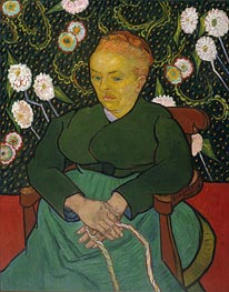 La Berceuse (Woman Rocking a Cradle), 1889 by Vincent van Gogh | Painting Reproduction