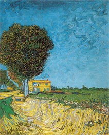 Lane near Arles (Side of a Country Lane) | Vincent van Gogh | Painting Reproduction