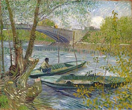Fishing in Spring, the Pont de Clichy (Asnieres) | Vincent van Gogh | Painting Reproduction