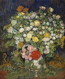 Bouquet of Flowers in a Vase | Vincent van Gogh | Painting Reproduction