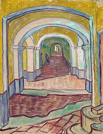 Corridor in the Asylum, 1889 by Vincent van Gogh | Painting Reproduction