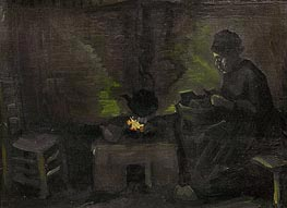 Peasant Woman by the Hearth | Vincent van Gogh | Painting Reproduction