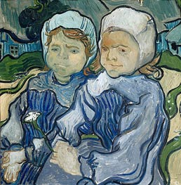 Two Little Girls | Vincent van Gogh | Painting Reproduction