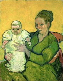 Portrait of Madame Augustine Roulin and Baby Marcelle | Vincent van Gogh | Painting Reproduction