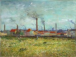 Factories at Clichy | Vincent van Gogh | Painting Reproduction