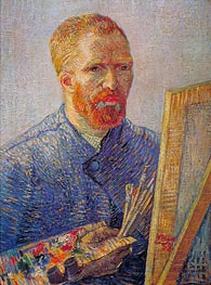 Self Portrait at the Easel | Vincent van Gogh | Gemälde Reproduktion