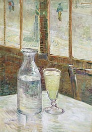 Café Table with Absinth, 1887 by Vincent van Gogh | Painting Reproduction