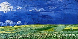 Wheatfields under Thunderclouds | Vincent van Gogh | Gemälde Reproduktion