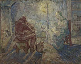 Night (after Millet)   Vincent van Gogh   Painting Reproduction