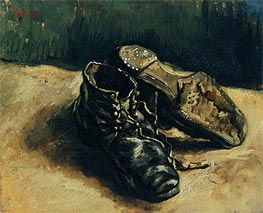 A Pair of Shoes, 1886 by Vincent van Gogh | Painting Reproduction