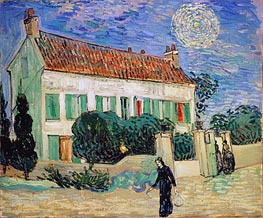 White House at Night | Vincent van Gogh | Gemälde Reproduktion