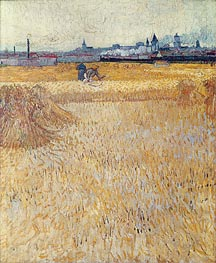 Wheatfield with Sheaves | Vincent van Gogh | Painting Reproduction