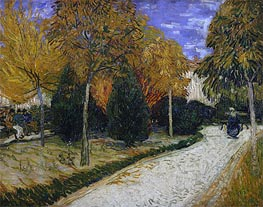 Path in the Park at Arles | Vincent van Gogh | Painting Reproduction