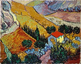 Landscape with House and Ploughman | Vincent van Gogh | Painting Reproduction