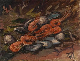 Prawns and Mussels, 1886 by Vincent van Gogh | Painting Reproduction