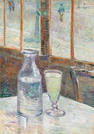 Cafe Table with Absinthe | Vincent van Gogh | Painting Reproduction