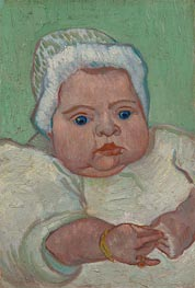 Portrait of Marcelle Roulin, 1888 by Vincent van Gogh | Painting Reproduction