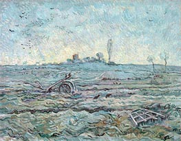 Snow-Covered Field with a Harrow | Vincent van Gogh | Painting Reproduction