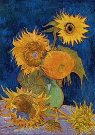 Six Sunflowers, 1888 by Vincent van Gogh | Painting Reproduction