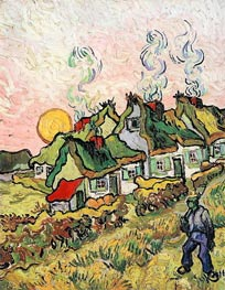 Cottages in the Sunshine - Reminiscence of the North | Vincent van Gogh | Painting Reproduction