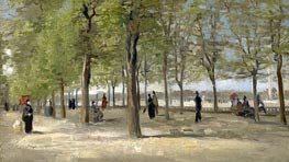 Terrace in the Luxembourg Gardens, 1886 by Vincent van Gogh | Painting Reproduction