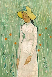 Girl in White, 1890 by Vincent van Gogh | Painting Reproduction