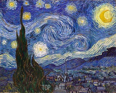 Starry Night, 1889 | Vincent van Gogh | Painting Reproduction
